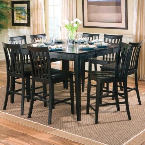 Pines 9 piece counter height dining set (table and 8 chairs)