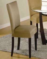Bloomfield microfiber parson side chair taupe