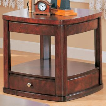 700247 evans contemporary end table with drawer and shelf