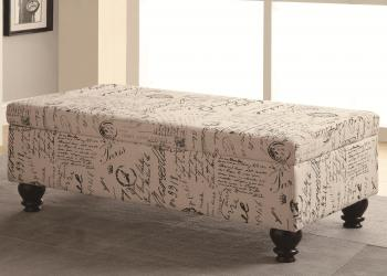 Benches french script storage bench