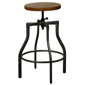 Industrial city bar stool