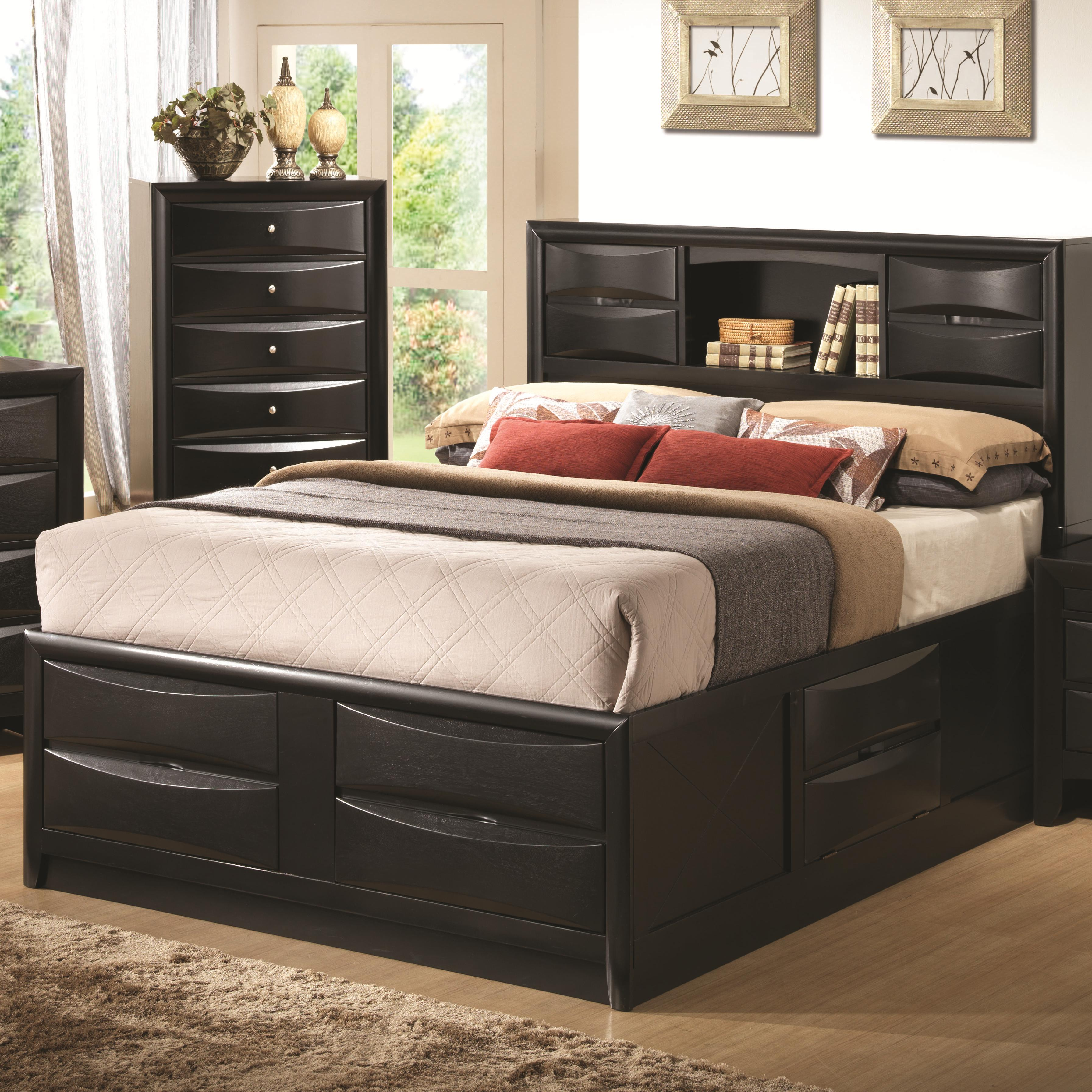Cal king 4pc set, briana (bed, dresser, nightstand, mirror)