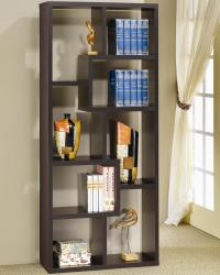 Verena contoured leveled display cabinet/ bookcase