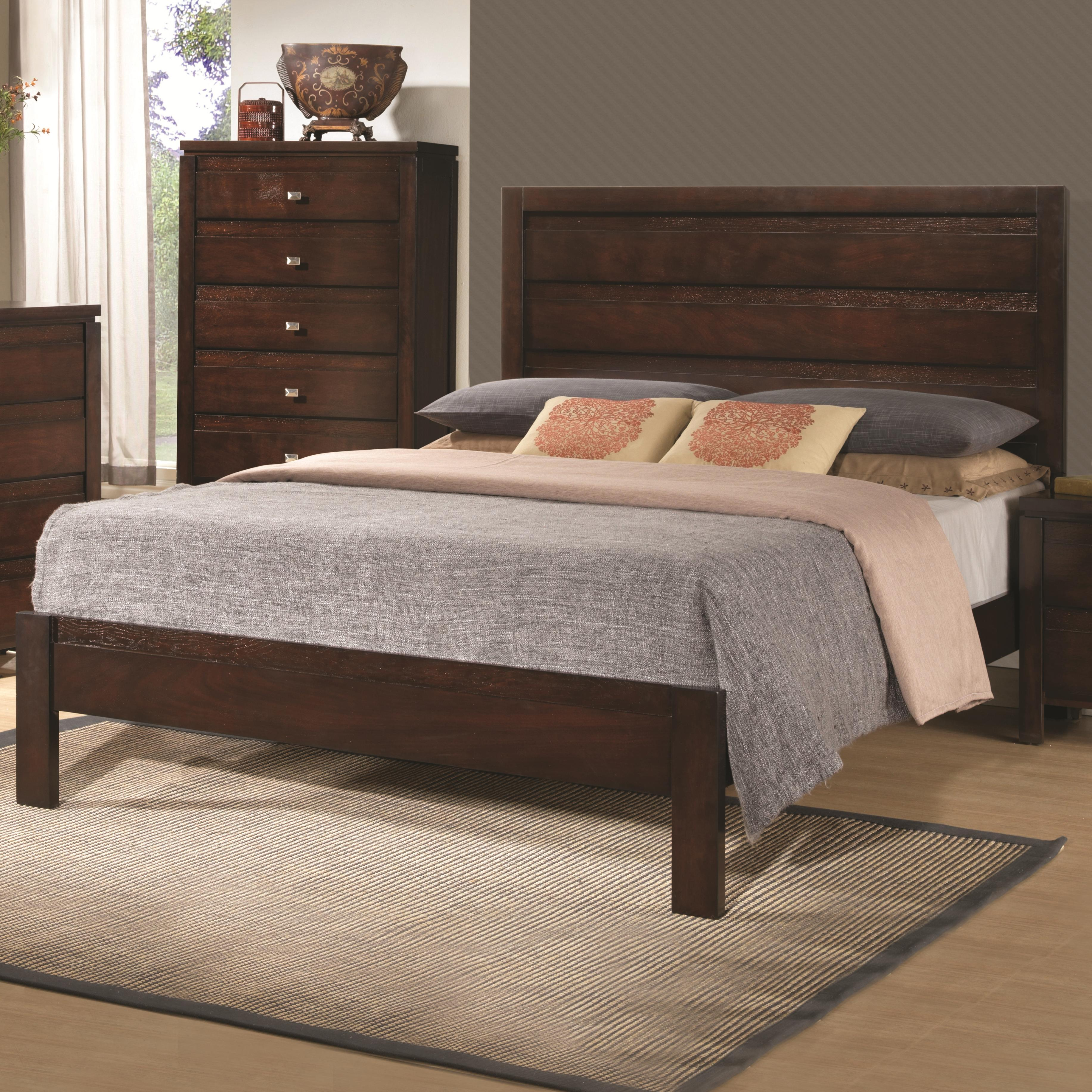 Cal king 4 pc set, cameron ( bed, dresser, nightstand, mirror)