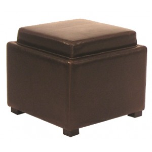 Cameron square ottoman with tray