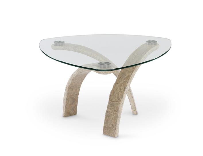 Cascade Pie Shaped Cocktail Table