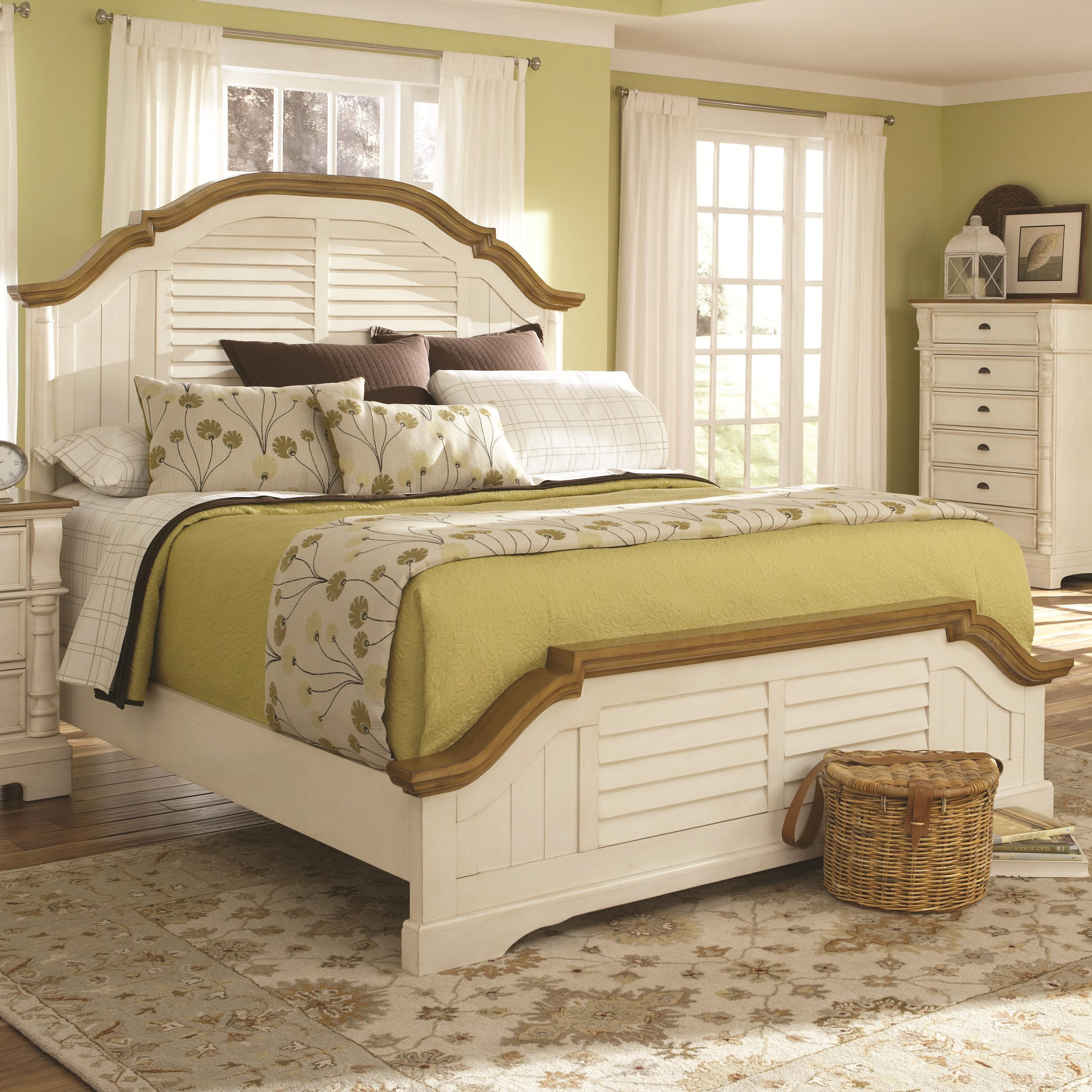 Cal king 4pc bed set, oleta (bed, dresser, nightstand, mirror)