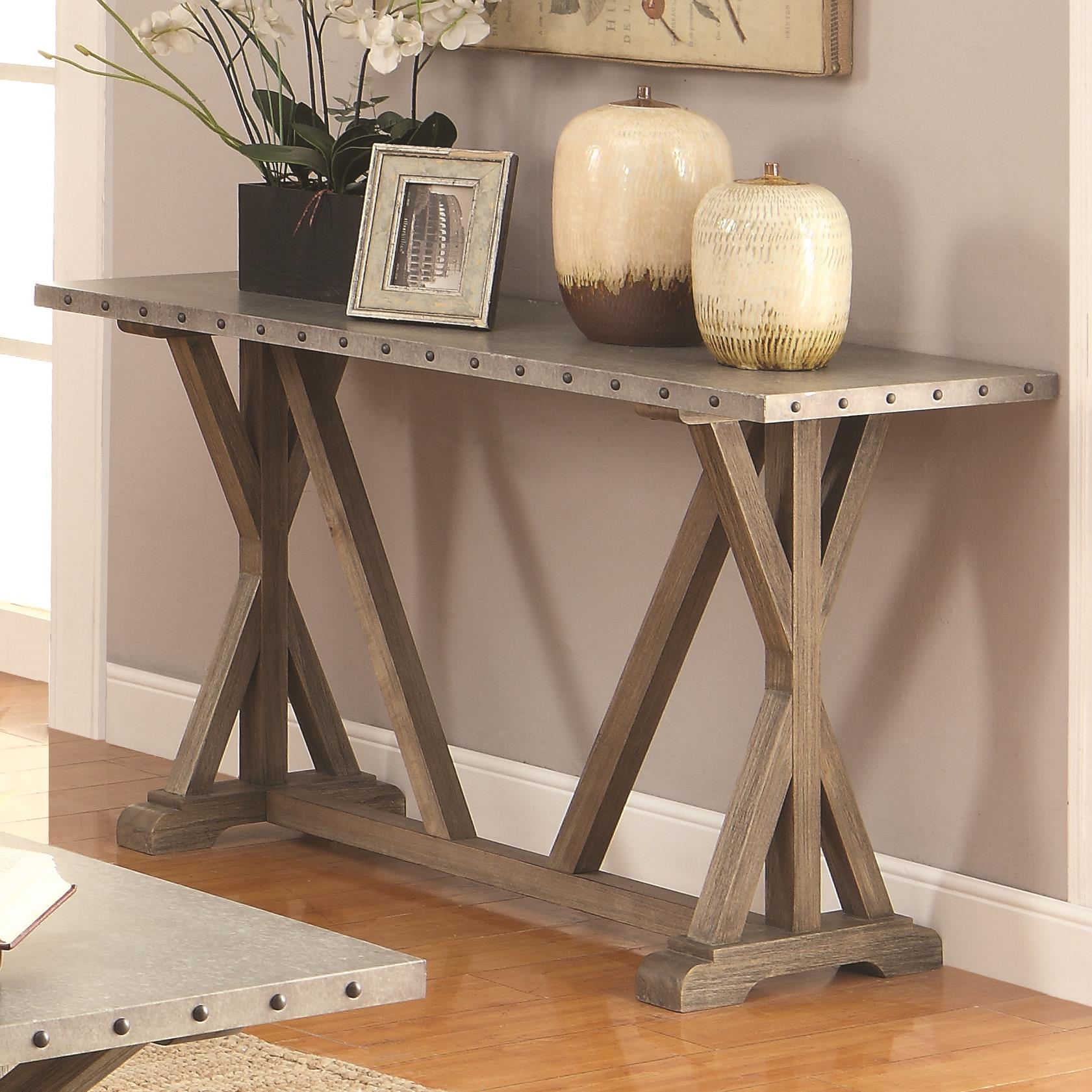 703749 industrial sofa table