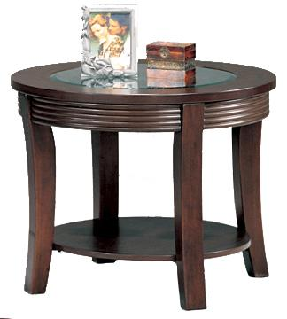 5524 simpson round end table with glass top
