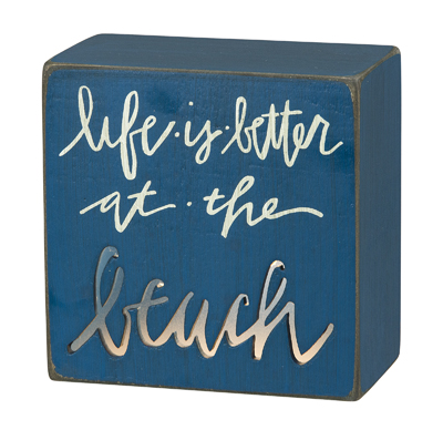 Life is better at the beach- light box