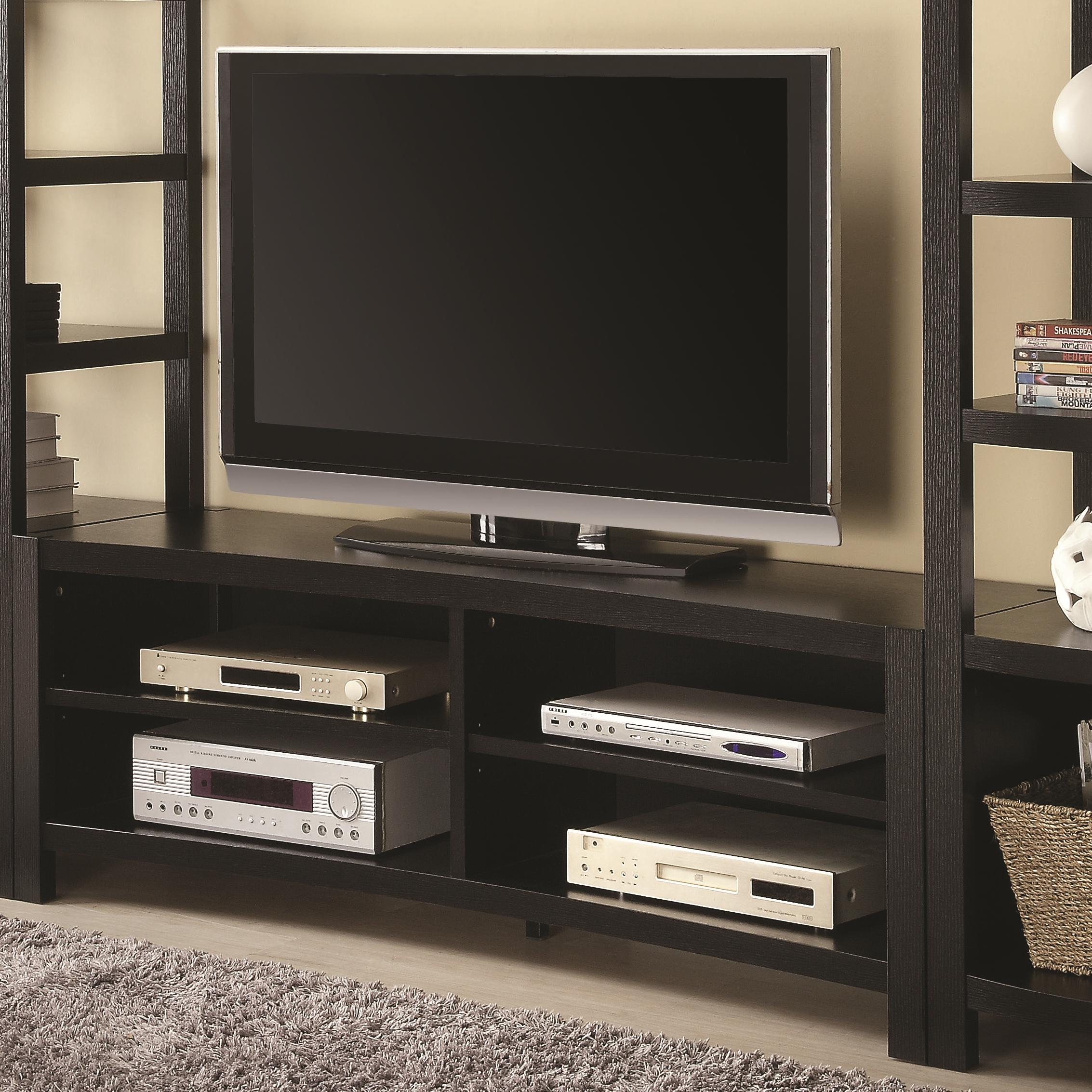 700697 entertainment units inverted curved front tv console