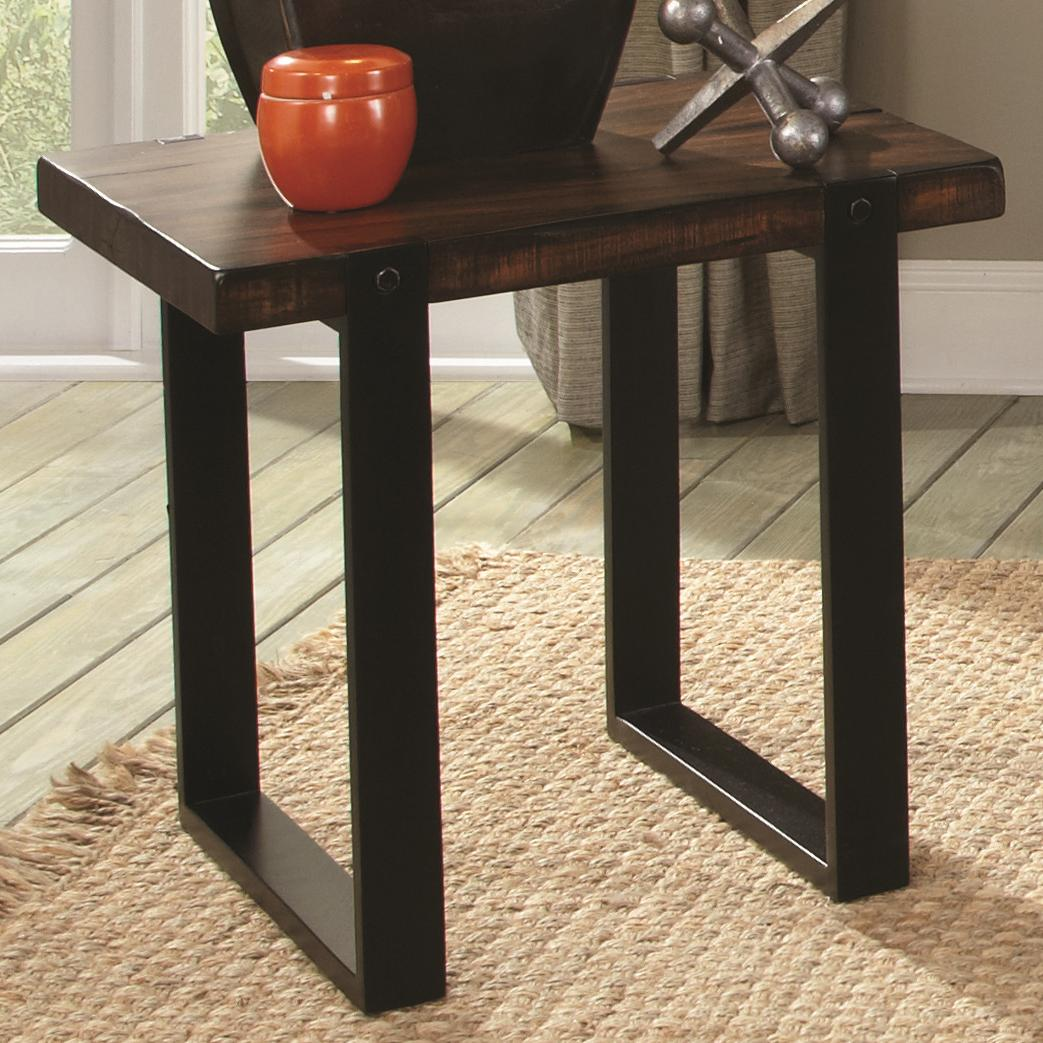703427 end table with two tone finish