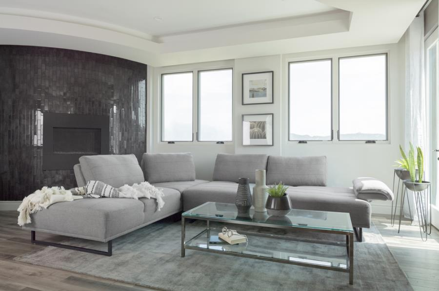Arden 2-piece adjustable back sectional taupe