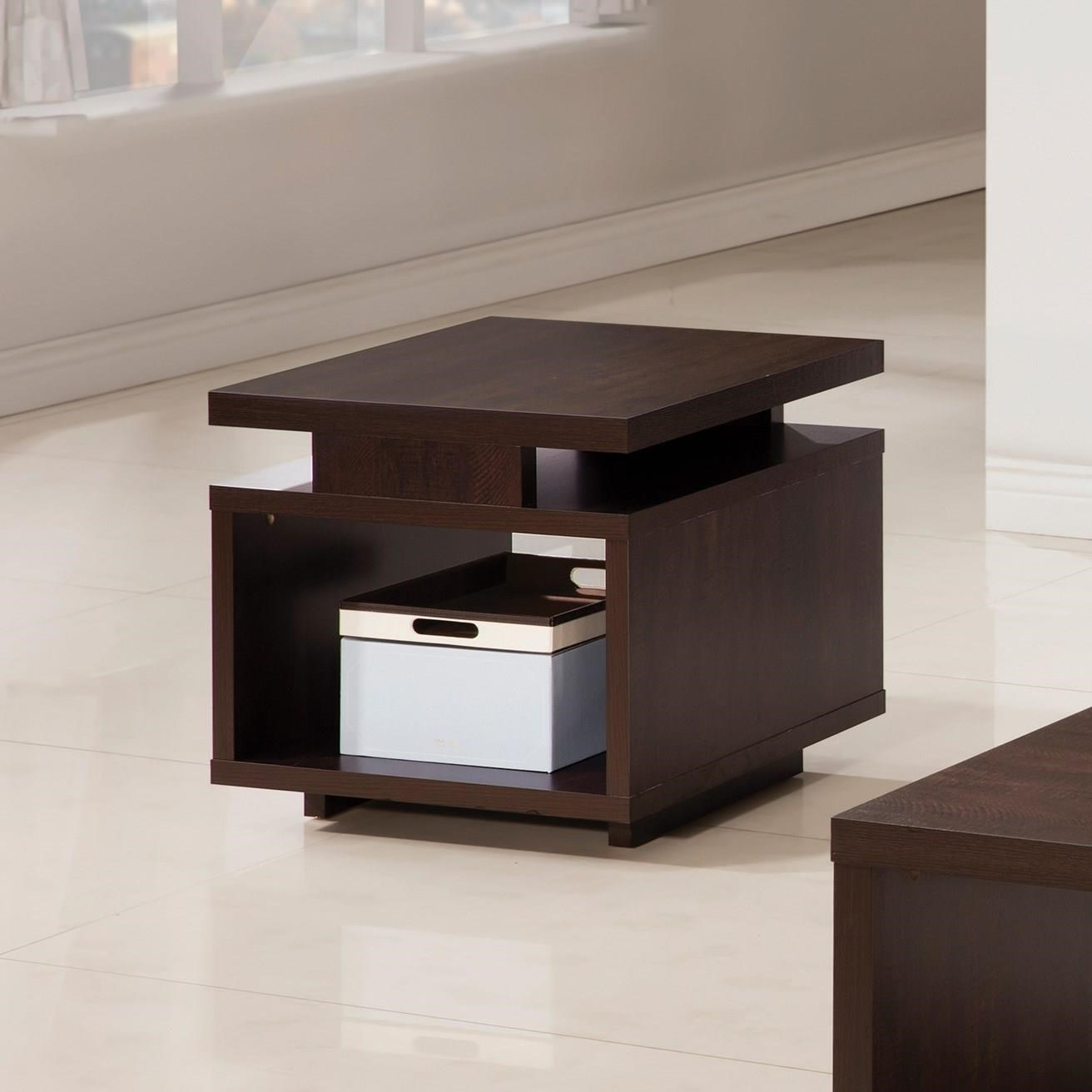 705337 fenella modern end table with open design