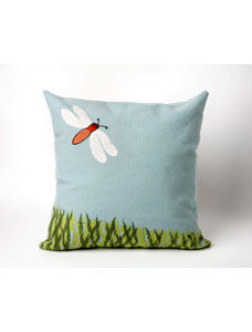 Lamontage dragonfly aqua pillow - visions 2