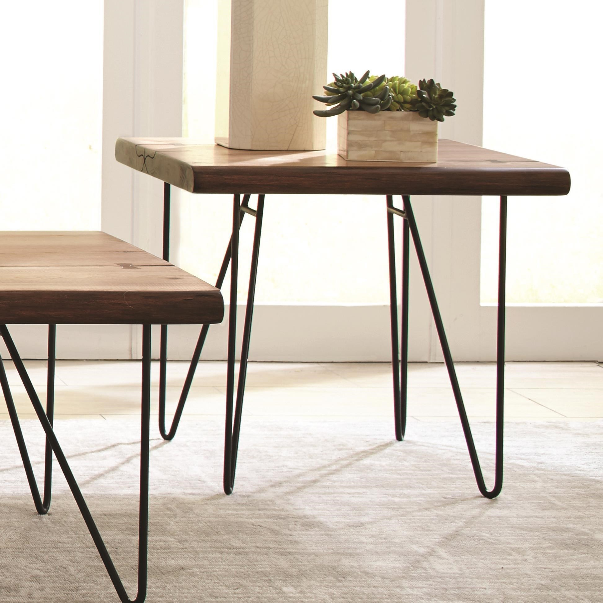 705667 live edge end table with hairpin legs