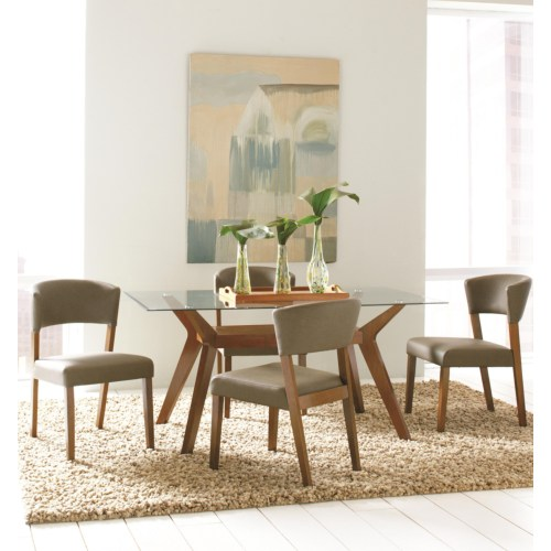 Paxton 5 piece rectangular dining table set with side chairs