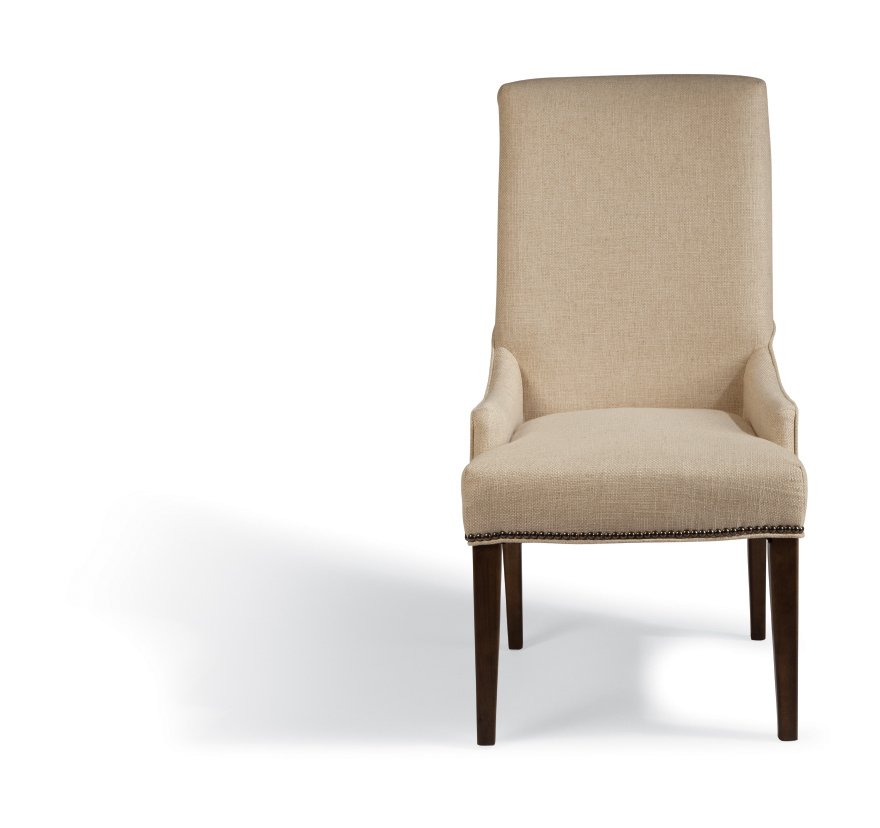Rothman Warm Stained Upholstered Chairs Bana Home Decors