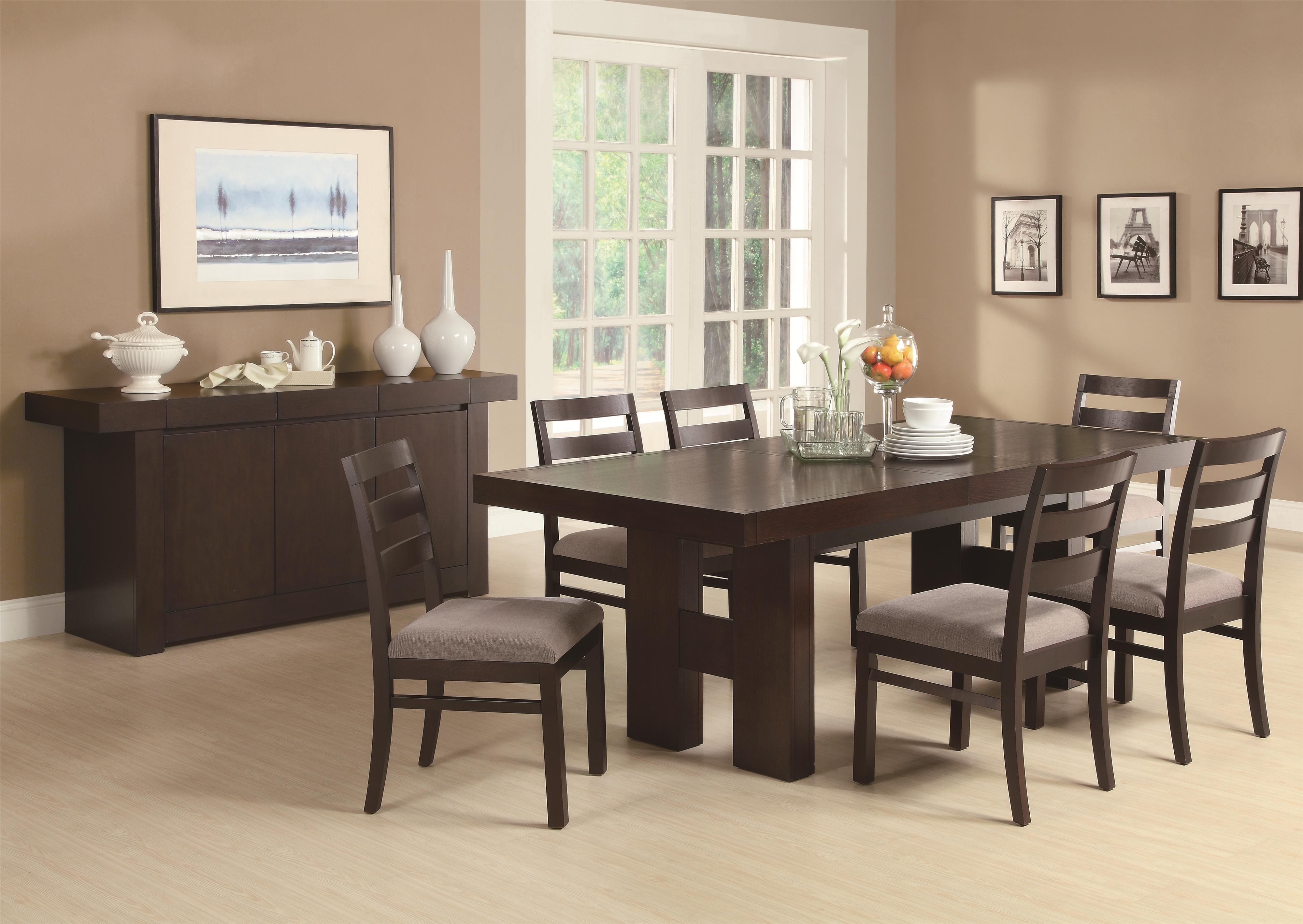 Dabny 5 Piece Rectangular Dining Table Set With Pull Out Extension Leaf