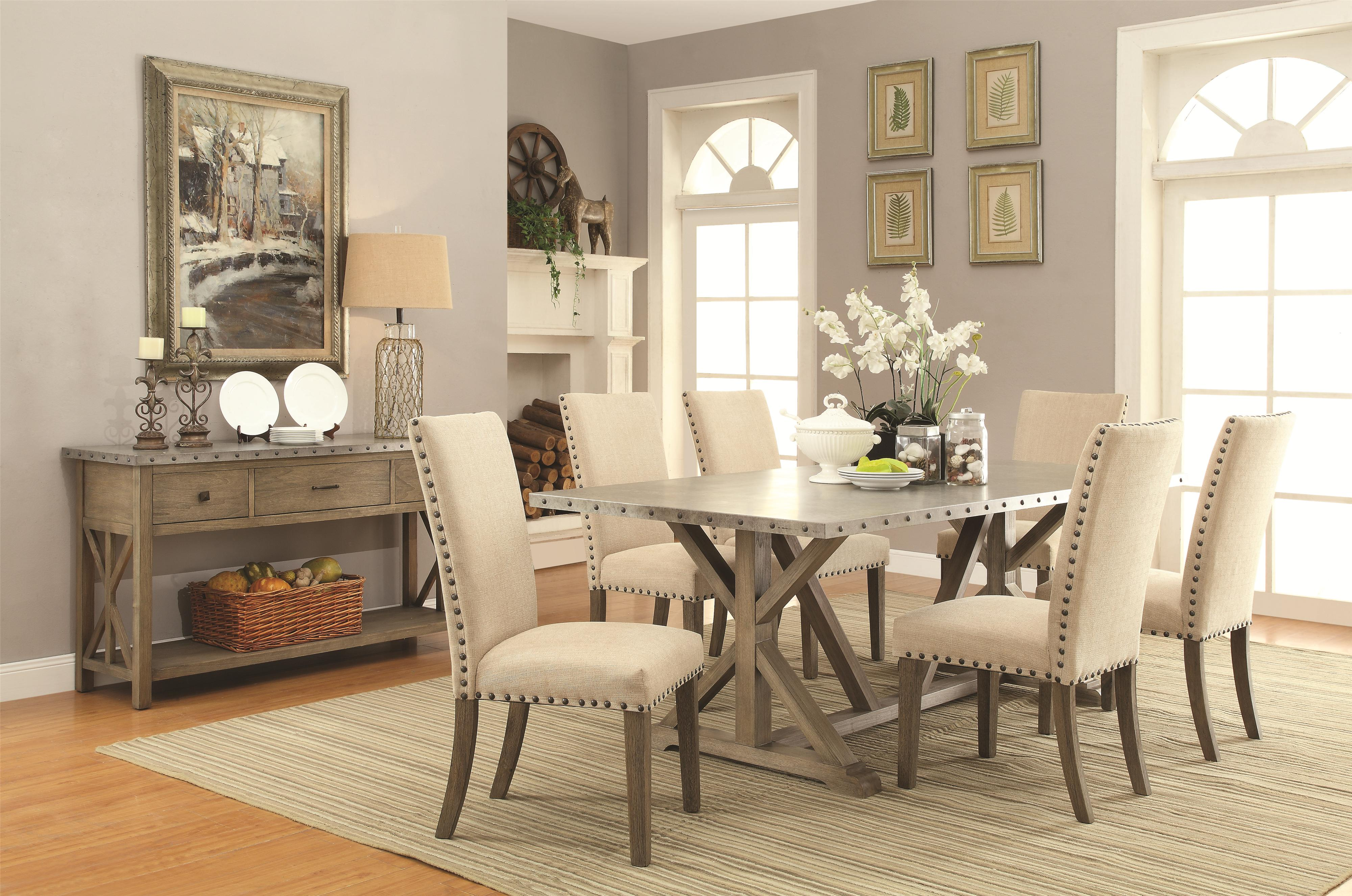 industrial dining room table and chairs. Arcadia Industrial 6 Piece Table \u0026 Chair Set With Bench Dining Room And Chairs