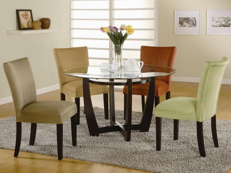bloomfield 5 piece dining set w beige chairs | bana home decors
