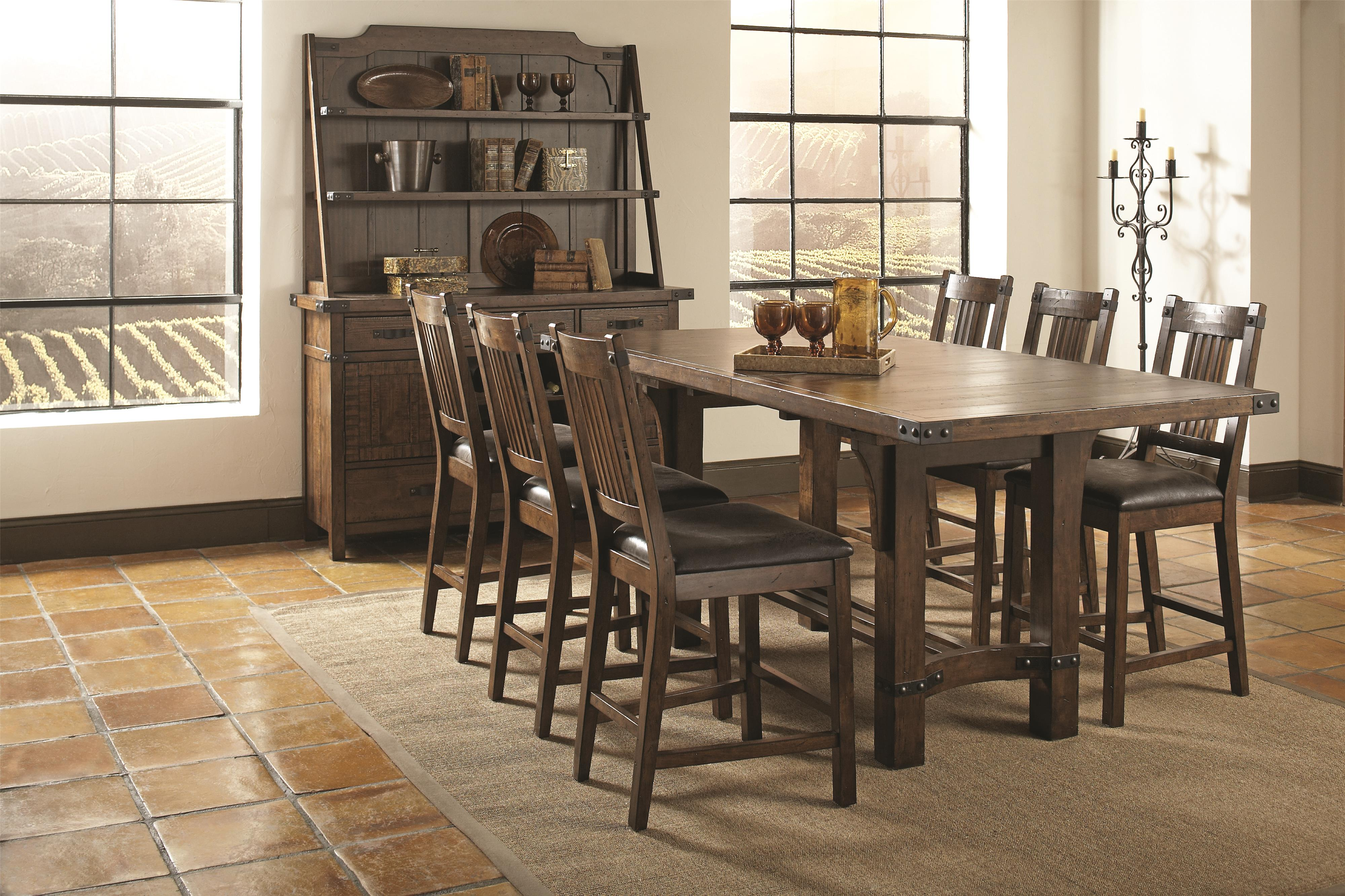 Padima 5 piece rustic counter height dining set Bana Home Decors