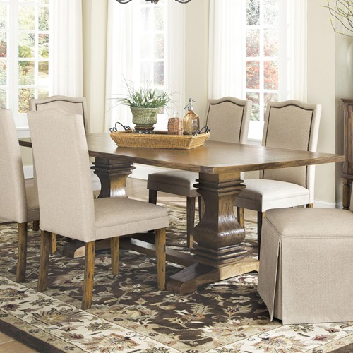 Parkins Dining Table With Shaped Double Pedestals Bana