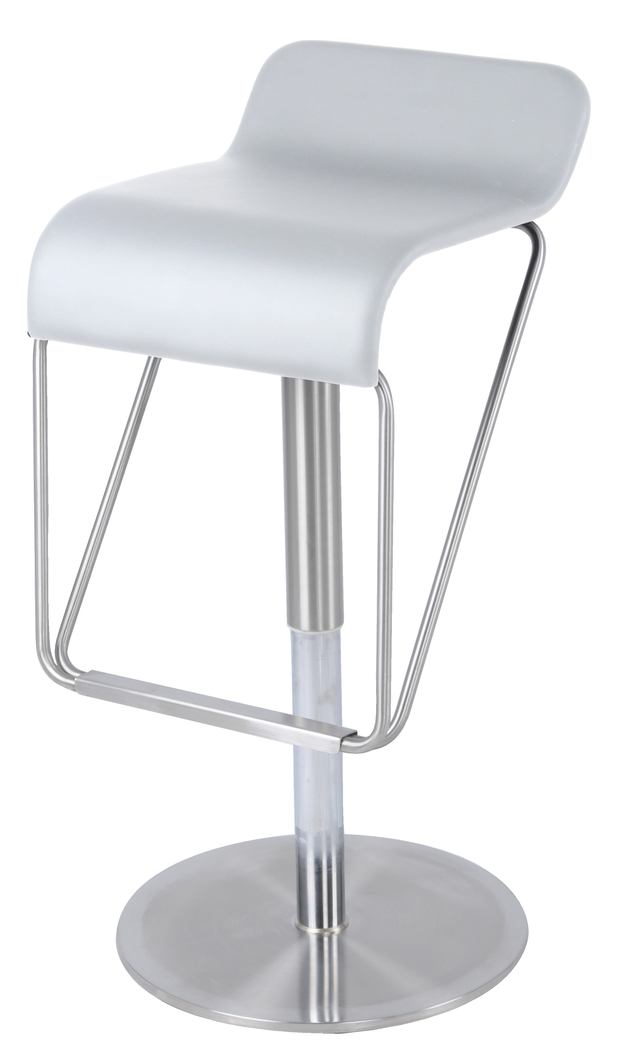 Premium tyrion gaslift bar stool, white