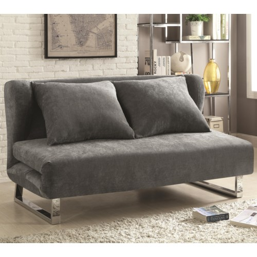 Transitional velvet sofa bed