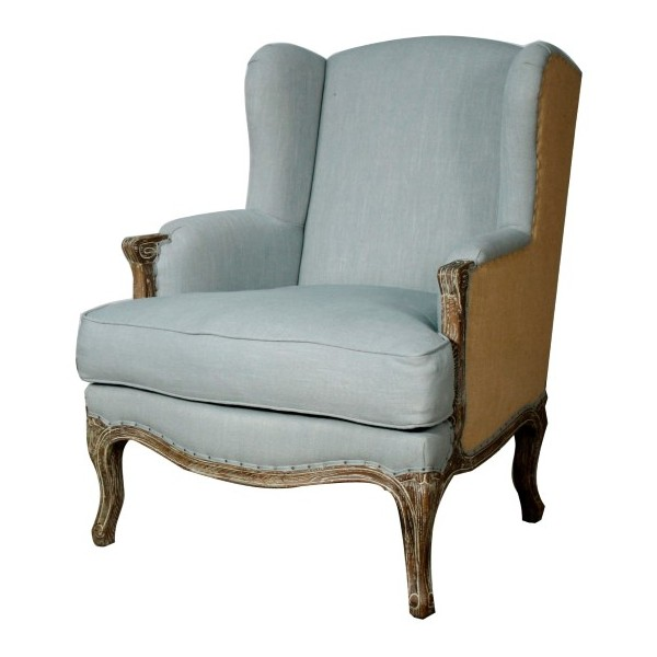 Marie wing arm chair - solid oak wood