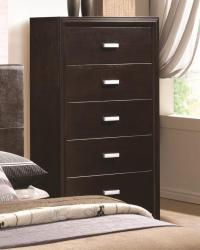 Andreas casual five drawer chest of drawers