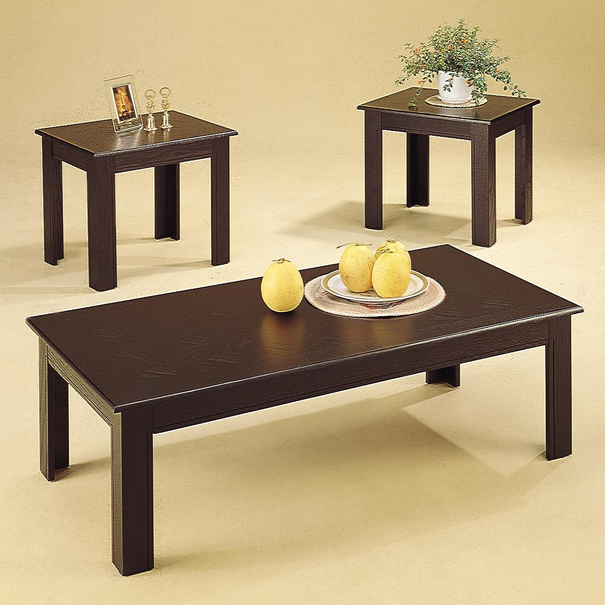 5169 occasional table sets 3 piece parquet occasional table set