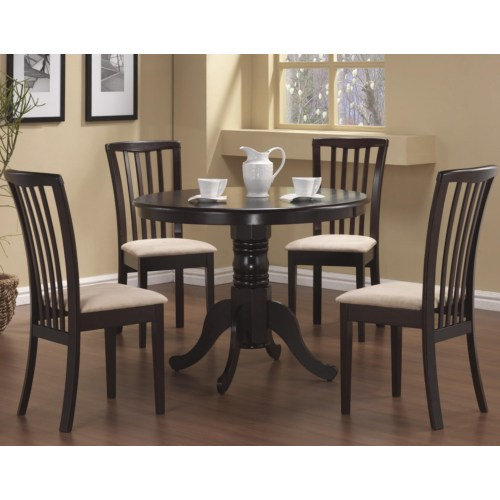 5 piece brannan dining set (table and 4 chairs)