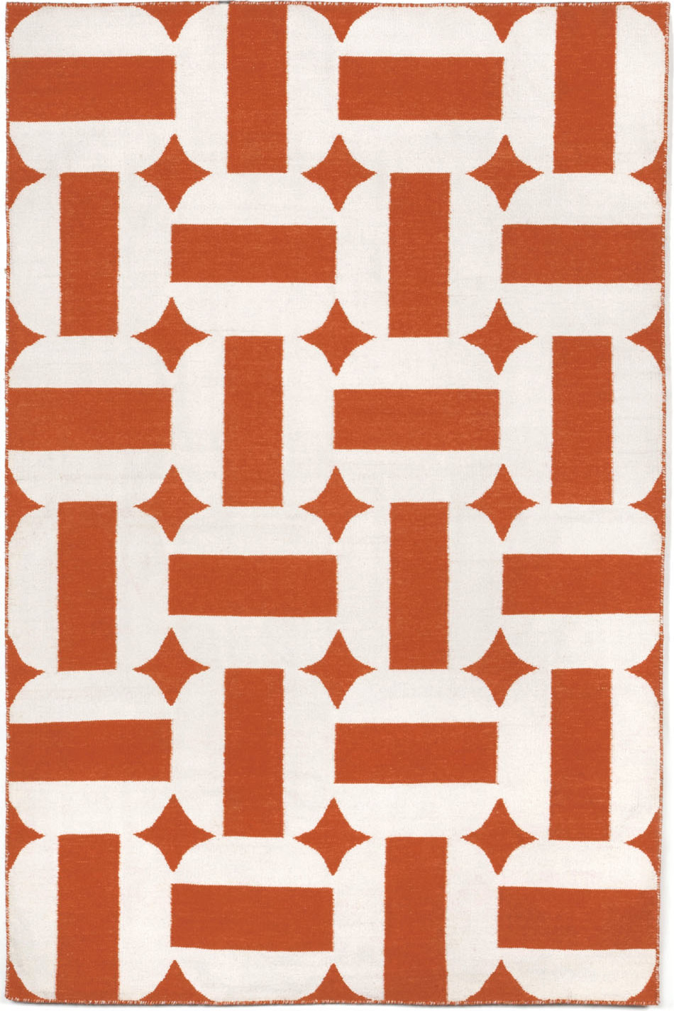 Hand woven assisi circles paprika indoor outdoor area rug 5 ft x 7 ft 6in