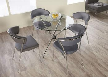 Hydra 5 piece dining set with draco chairs