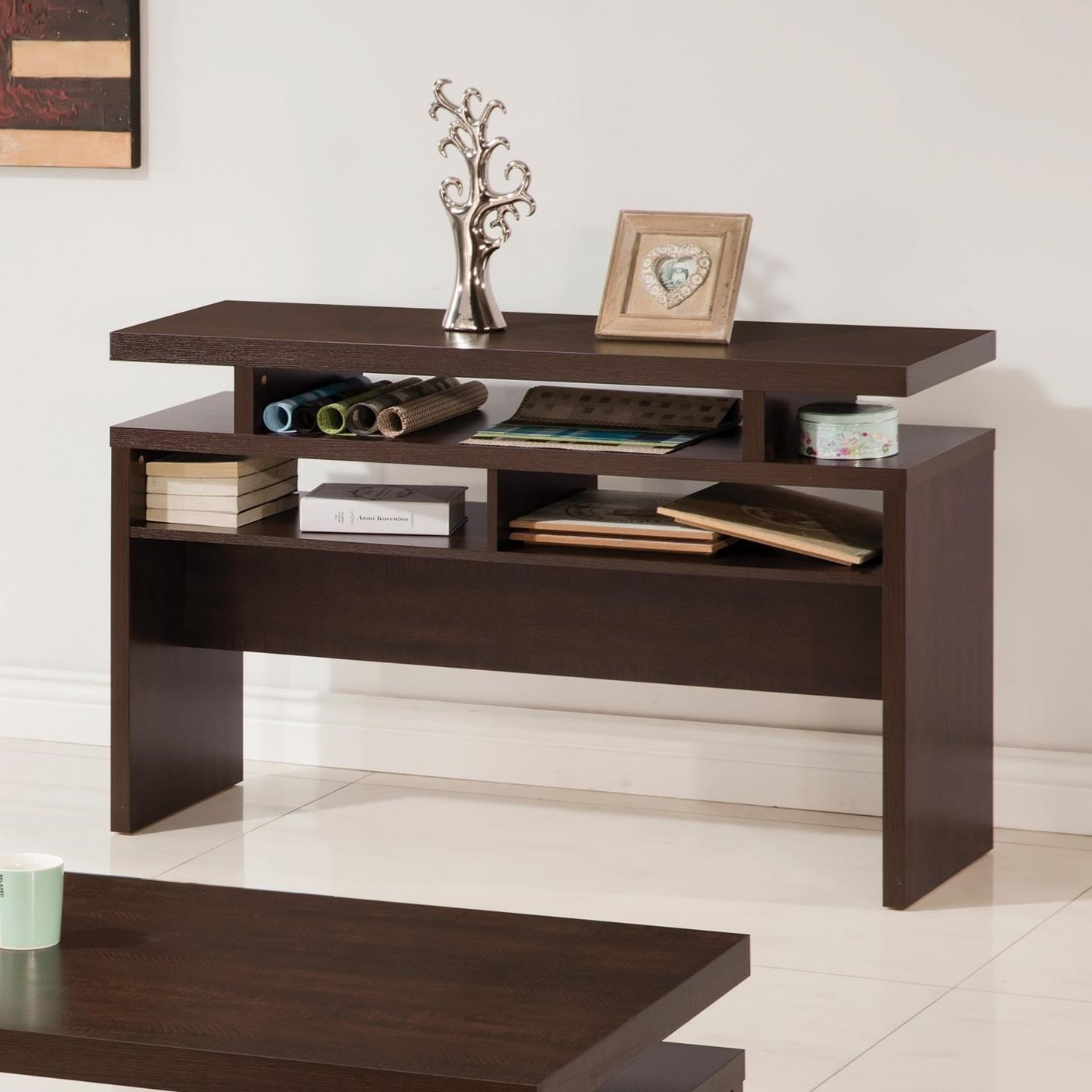 705339 fenella modern sofa table with 2 shelves