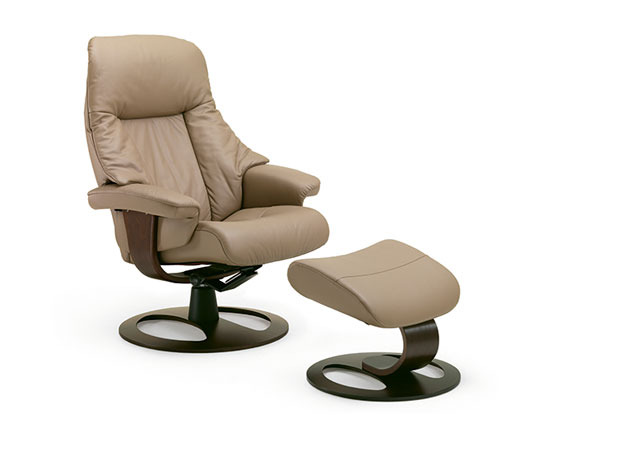 Fjords alfa ergonomic recliner and ottoman (large)