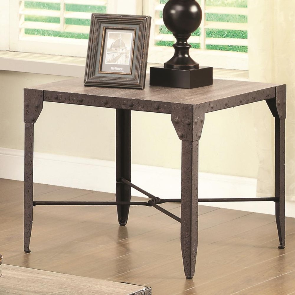 703697 rustic end table