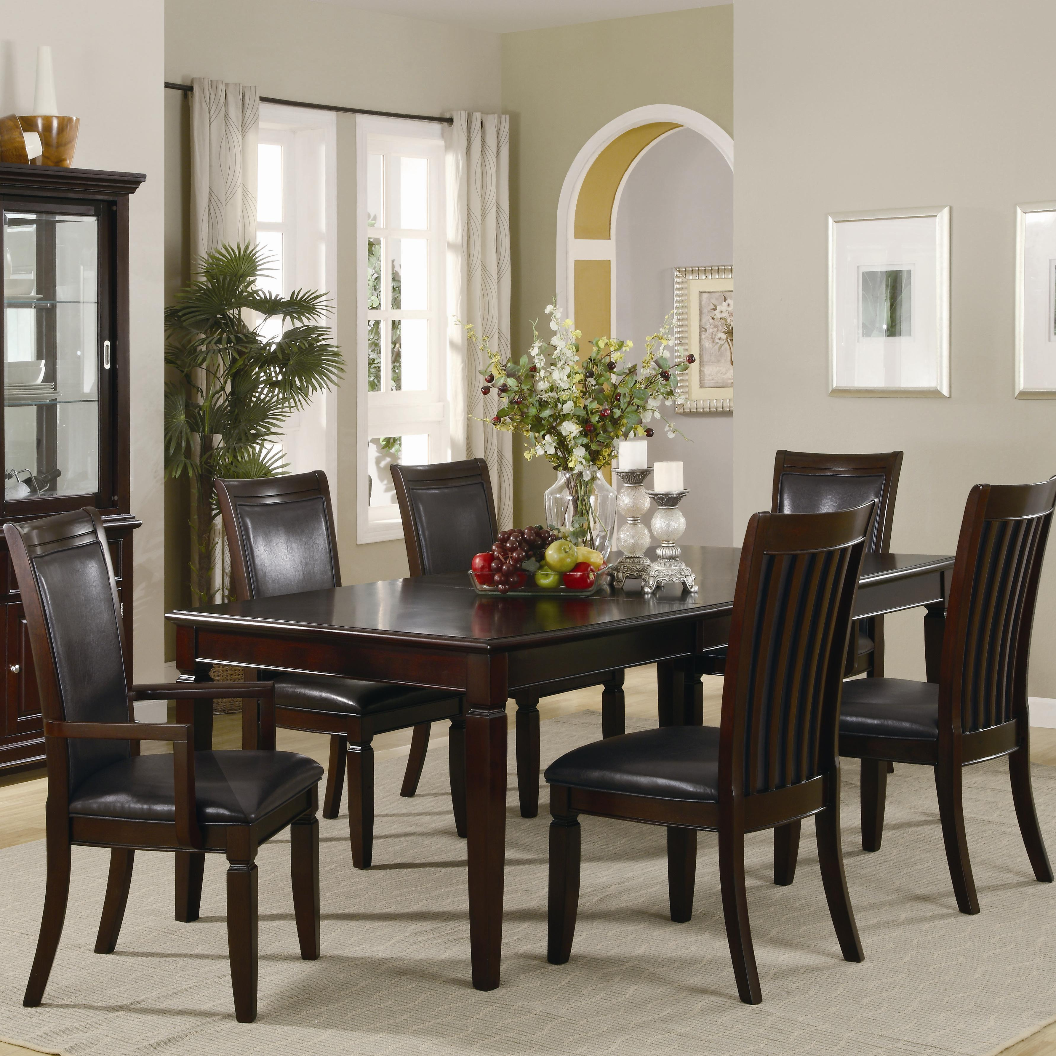 Ramona formal rectangular table w/ arm and side chairs