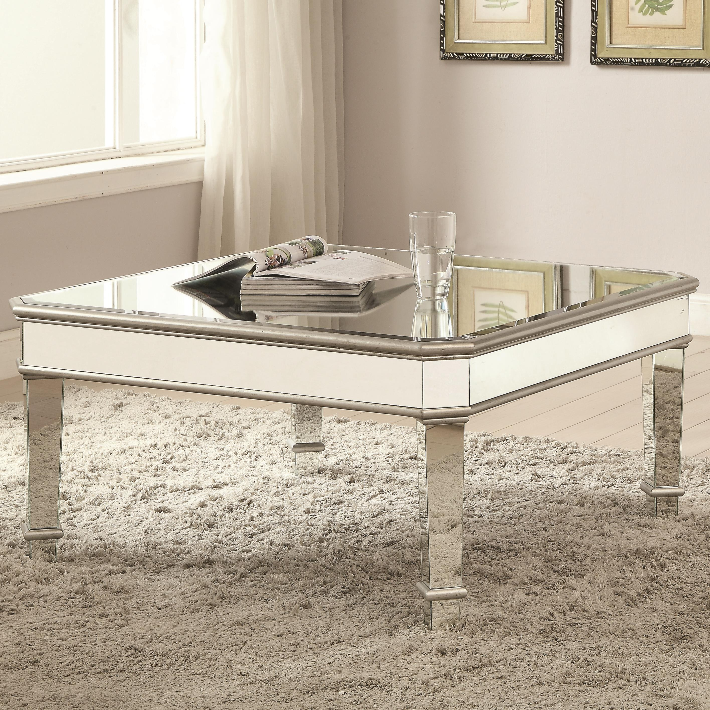 703938 mirrored coffee table