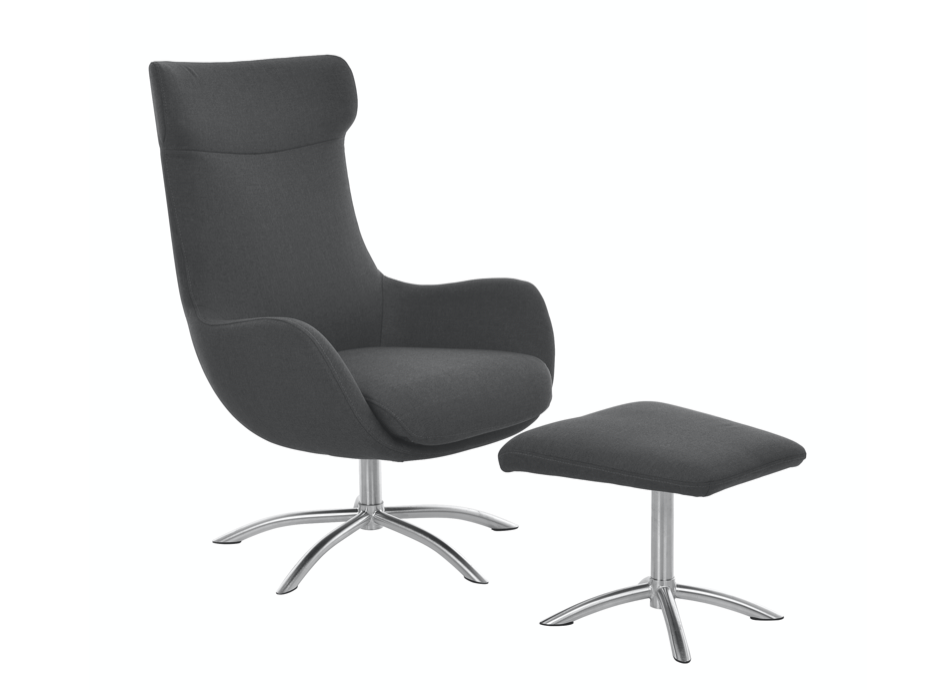 Fjords skagen chair high back swivel tilter + footstool