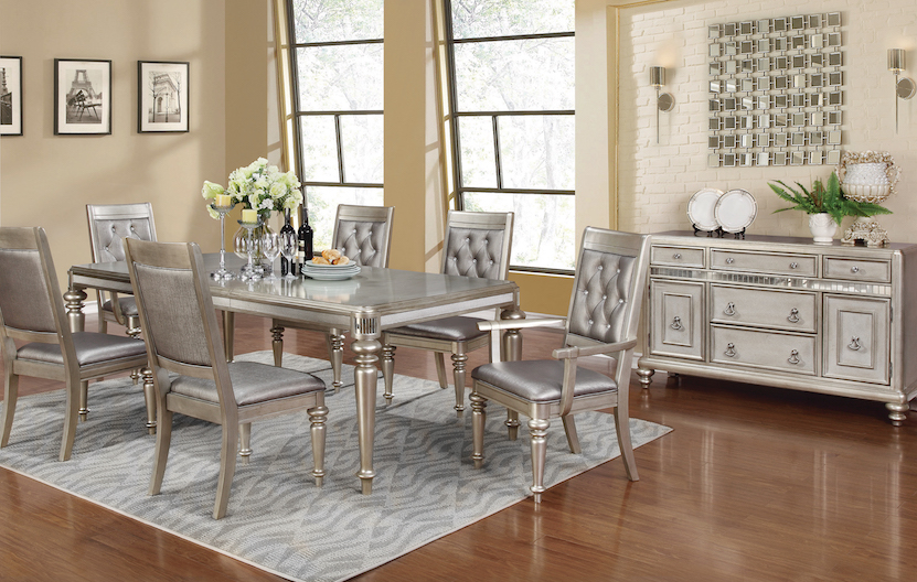 Danette 7 piece table and chair set with leaf