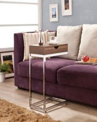 Accent tables contemporary snack table with storage top