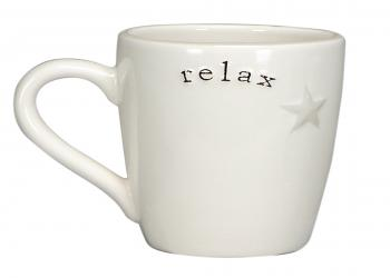 Word expression coffee mug - relax