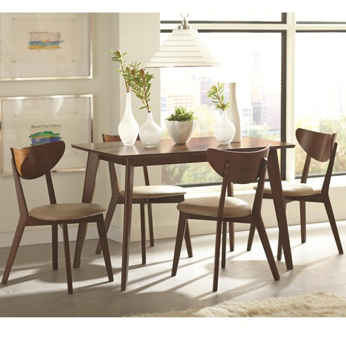Kersey 5 piece dining set with angled legs
