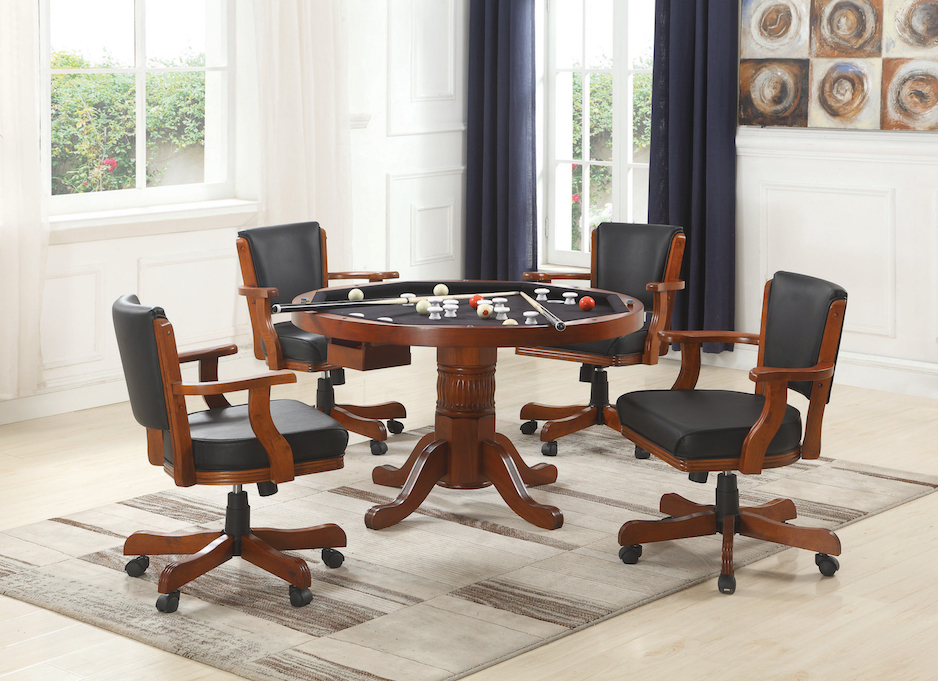 Mitchell 5 piece 3-in-1 game table set