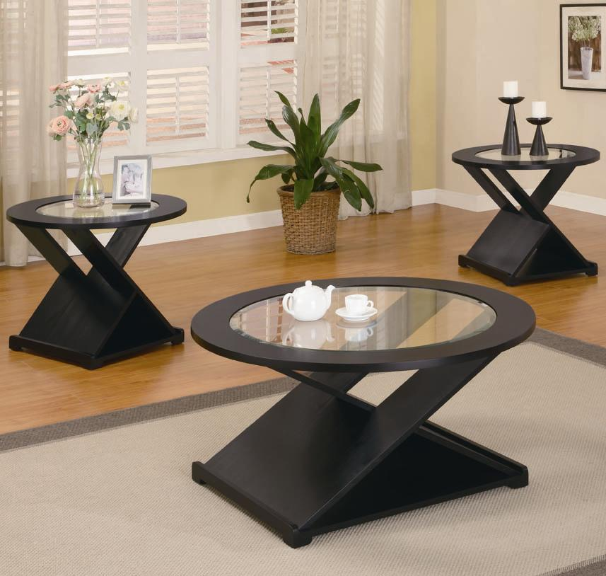 701501 3 piece round occasional table set