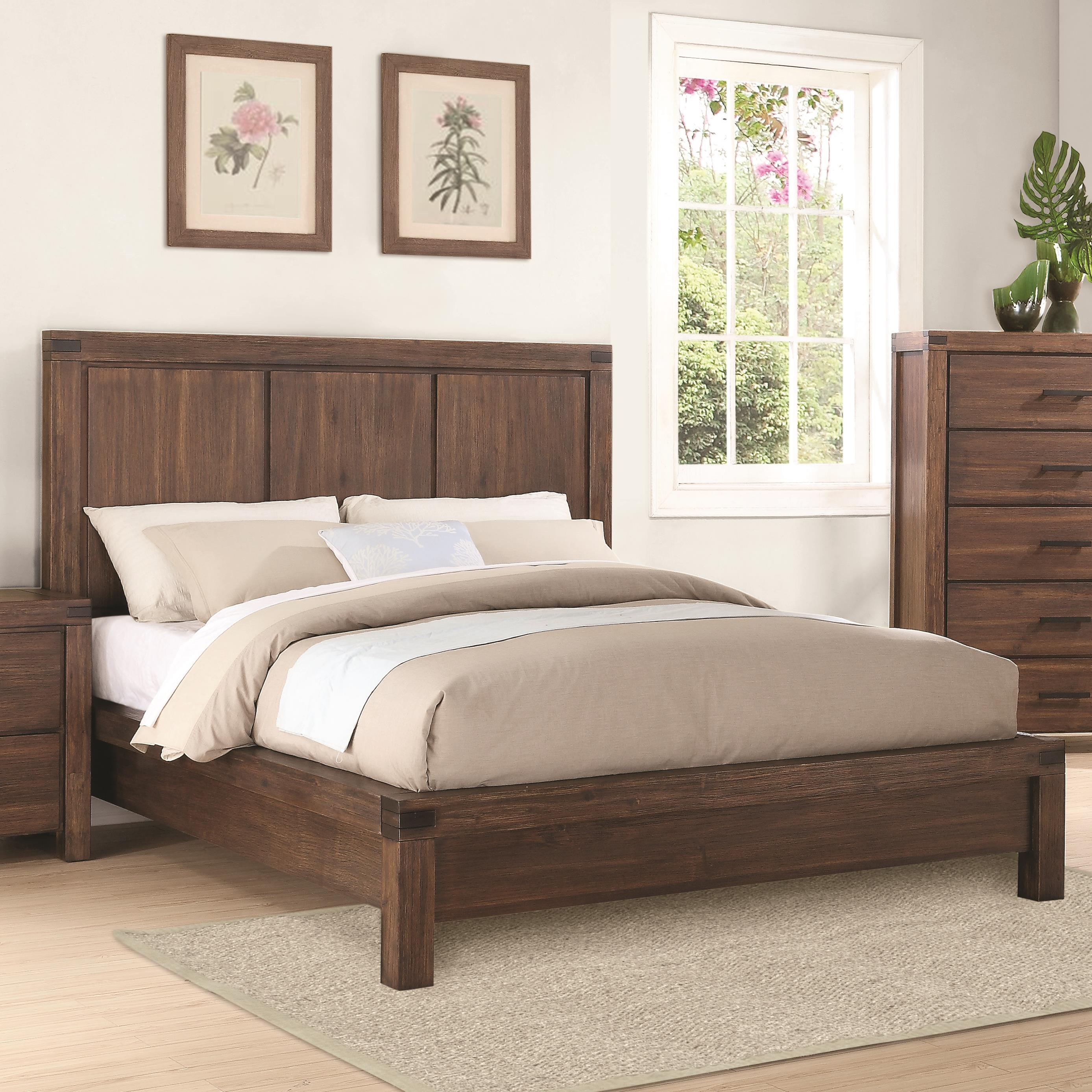 Queen 4 pc set, lancashire (bed, dresser, nightstand, mirror)
