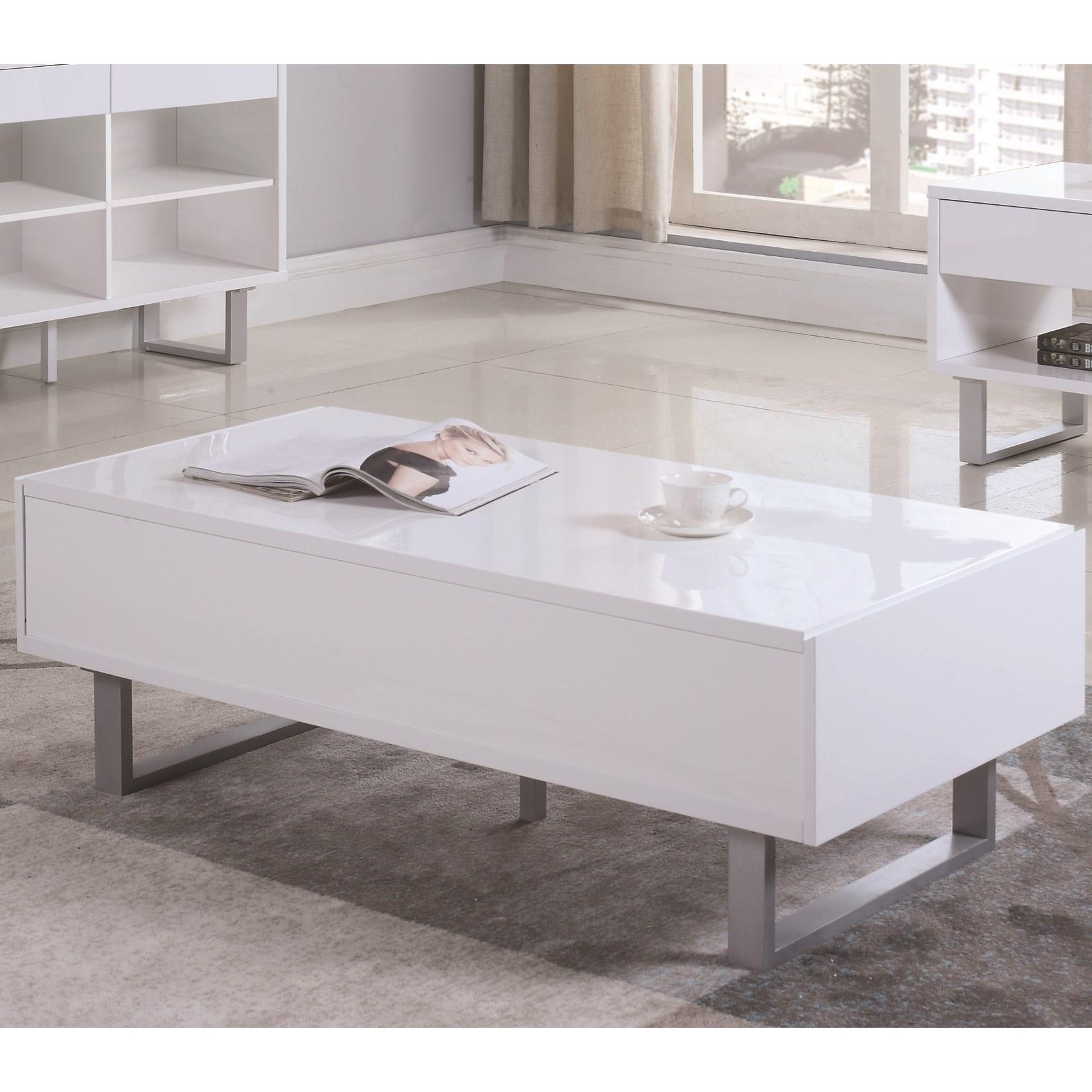 705698 rectangular coffee table with two drawers