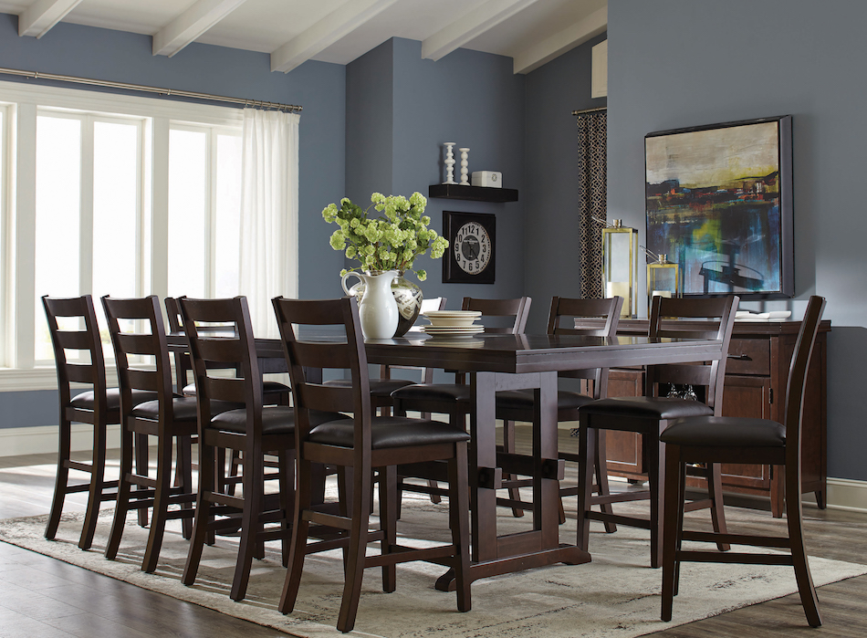 Holbrook 5 piece counter height table and ladder back chair set